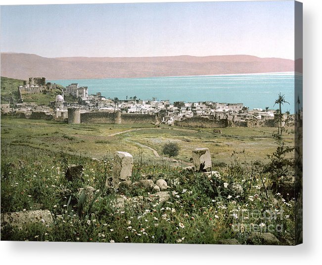 1895 Acrylic Print featuring the photograph Holy Land: Tiberias by Granger