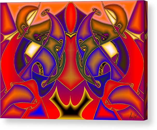 Life Acrylic Print featuring the digital art Intertwined Lifestreets by Helmut Rottler