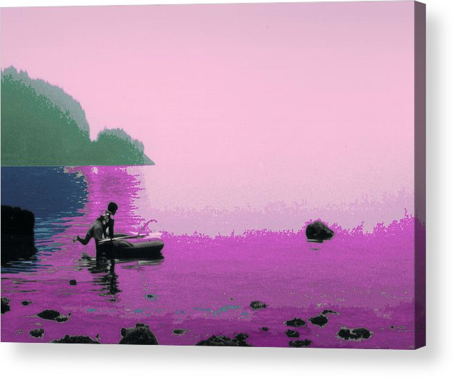 Landscape Acrylic Print featuring the photograph Into The Stillness - Pink by Lyle Crump