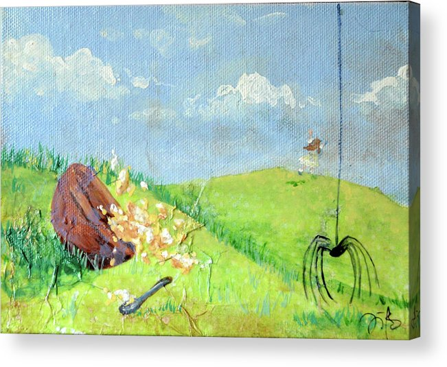 Itsy Bitsy Spider Acrylic Print featuring the mixed media Itsy Bitsy Spider by Jennifer Kelly