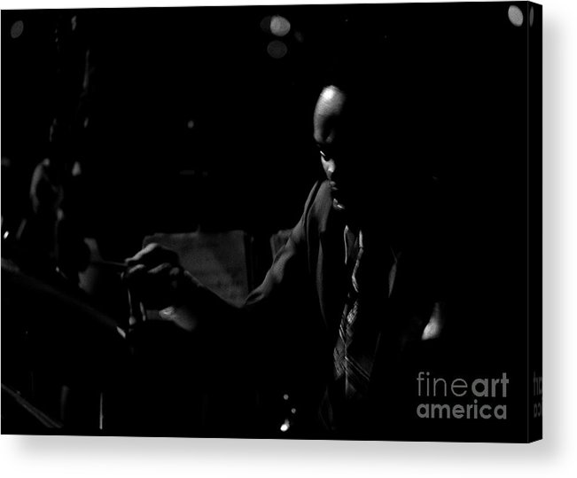 Black Acrylic Print featuring the photograph Keepin Time by Arni Katz