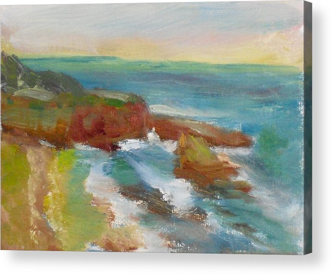 100 Paintings Acrylic Print featuring the painting La Jolla Cove 019 by Jeremy McKay