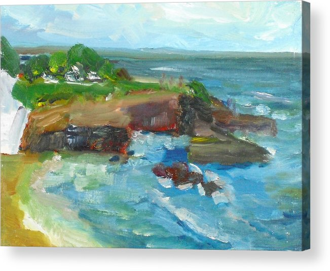 100 Paintings Acrylic Print featuring the painting La Jolla Cove 022 by Jeremy McKay