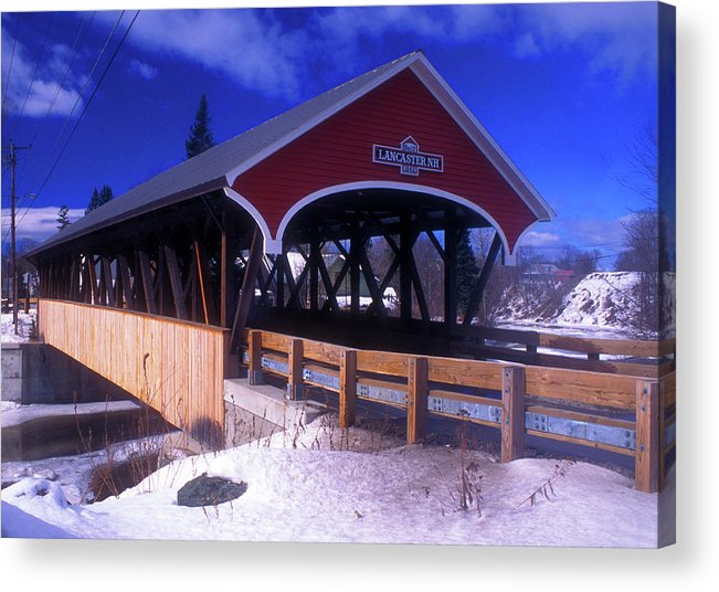 Covered Bridge Acrylic Print featuring the photograph Lancaster Covered Bridge by John Burk