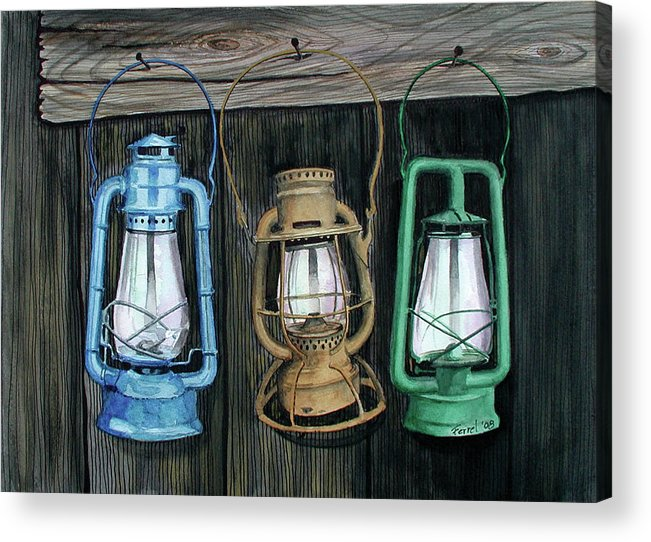 Lanterns Acrylic Print featuring the painting Lanterns by Ferrel Cordle