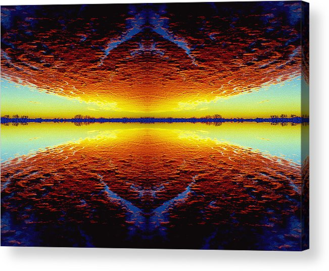 Sunset Acrylic Print featuring the photograph Last Sunset by Nancy Mueller