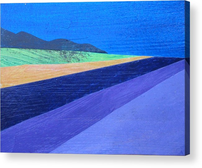 Lavender Acrylic Print featuring the painting Lavender Field by Dille Ferrer