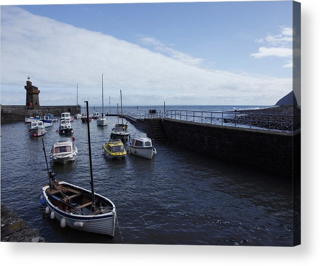 Harbour Acrylic Print featuring the photograph Lynmouth Harbour by Mike Finding