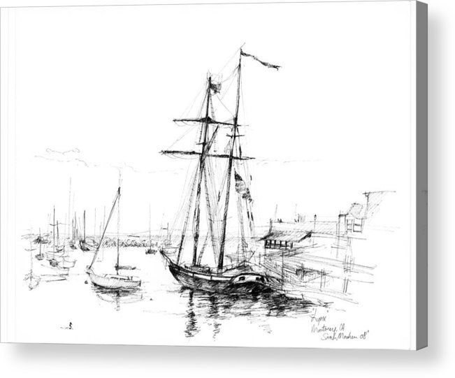 Ship Acrylic Print featuring the painting Lynx by Sarah Madsen