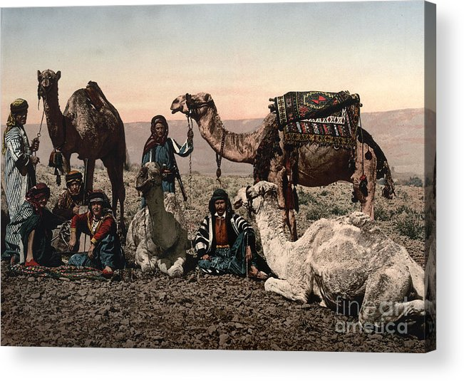 1890s Acrylic Print featuring the photograph Middle East: Travelers by Granger
