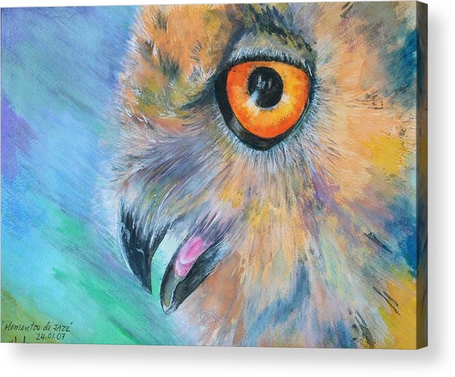 Bird Acrylic Print featuring the painting Moments Of Jazz by Ceci Watson