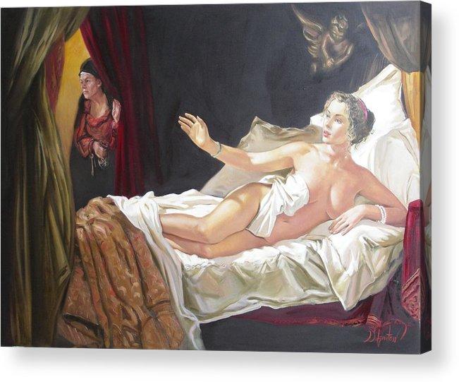 Ignatenko Acrylic Print featuring the painting Motif Of Danae by Sergey Ignatenko