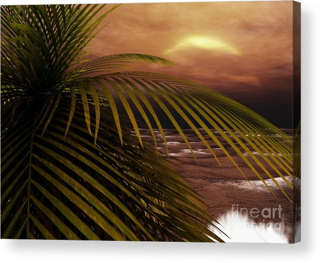 Tropical Acrylic Print featuring the digital art Night Moves by Richard Rizzo