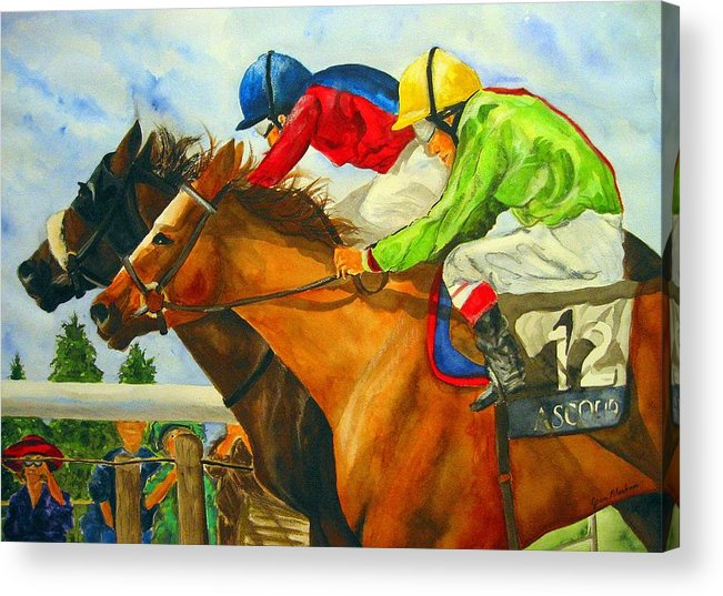 Horse Acrylic Print featuring the painting Nose To Nose by Jean Blackmer