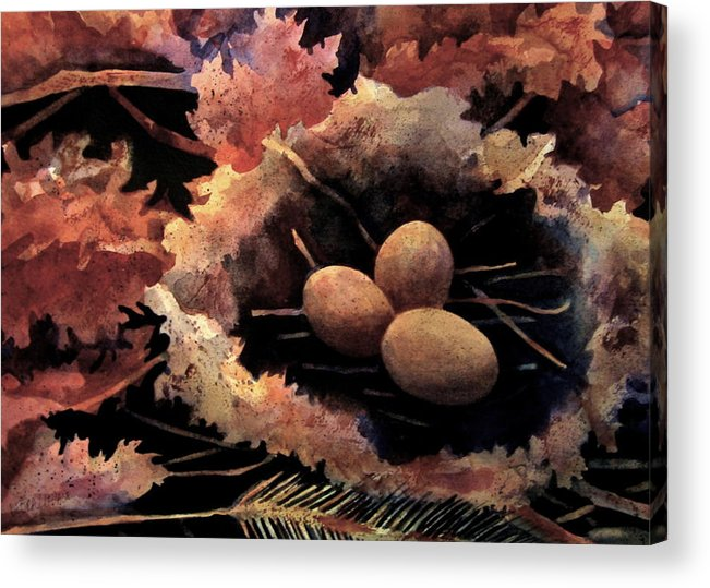 Leaves Acrylic Print featuring the painting Old Meets New by Debra LePage