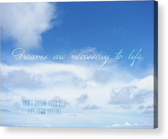 Blue Acrylic Print featuring the photograph Perfect Day Quote by JAMART Photography