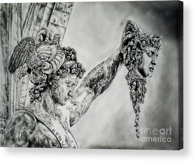 Perseus With The Head Of Medusa Acrylic Print