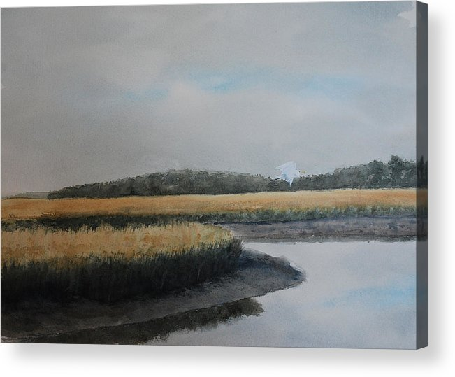 Marsh Acrylic Print featuring the painting Point Comfort by Stanton Allaben