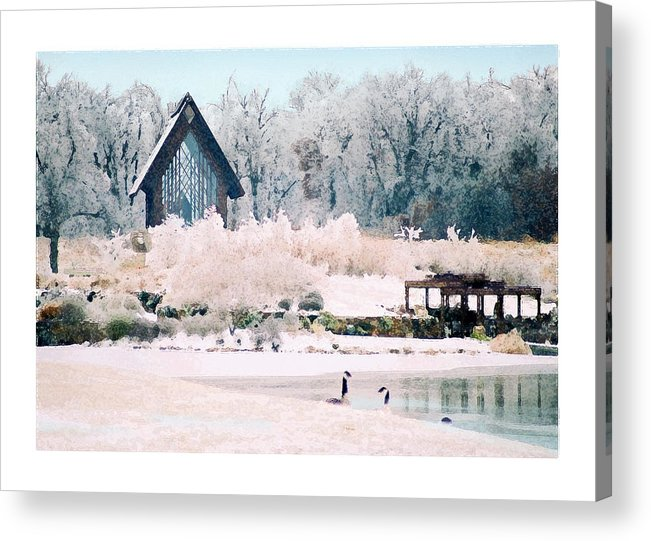 Landscape Acrylic Print featuring the photograph Powell Gardens Chapel by Steve Karol