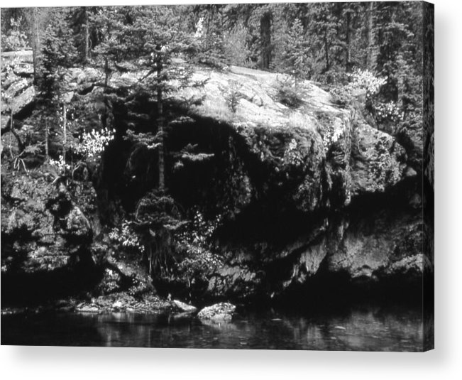 Landscape Acrylic Print featuring the photograph Quiet River by Allan McConnell