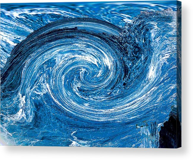 River Acrylic Print featuring the photograph Raging River by DigiArt Diaries by Vicky B Fuller
