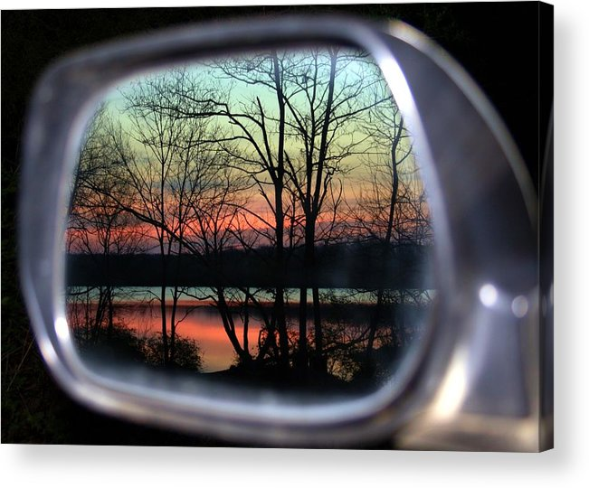 Rearview Mirror Acrylic Print featuring the photograph Rearview Mirror by Mitch Cat