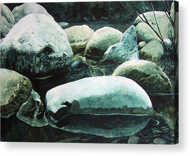 Landscape Acrylic Print featuring the painting Reflection by Richard Ong