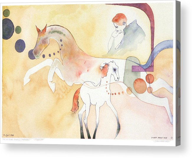 Surreal Acrylic Print featuring the painting Rick And Rocket by Eileen Hale