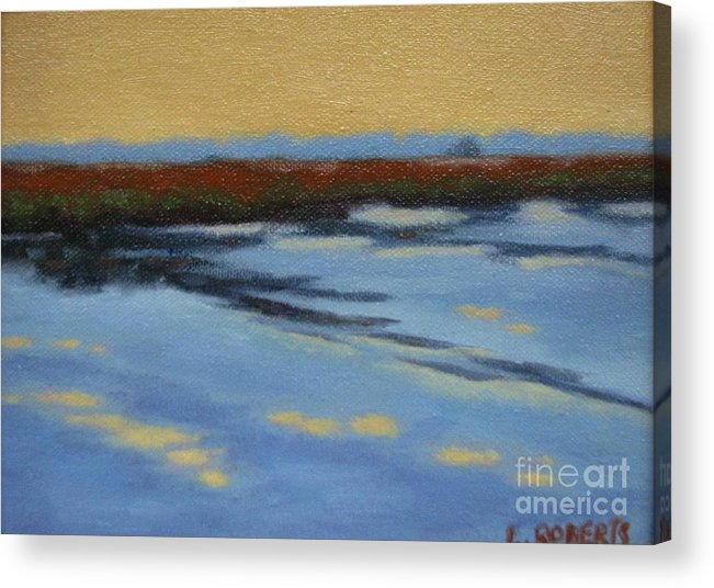 Landscape Acrylic Print featuring the painting River's Edge by Laura Roberts