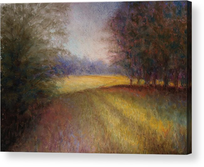 Lanscape Acrylic Print featuring the painting Romance Trail by Susan Jenkins