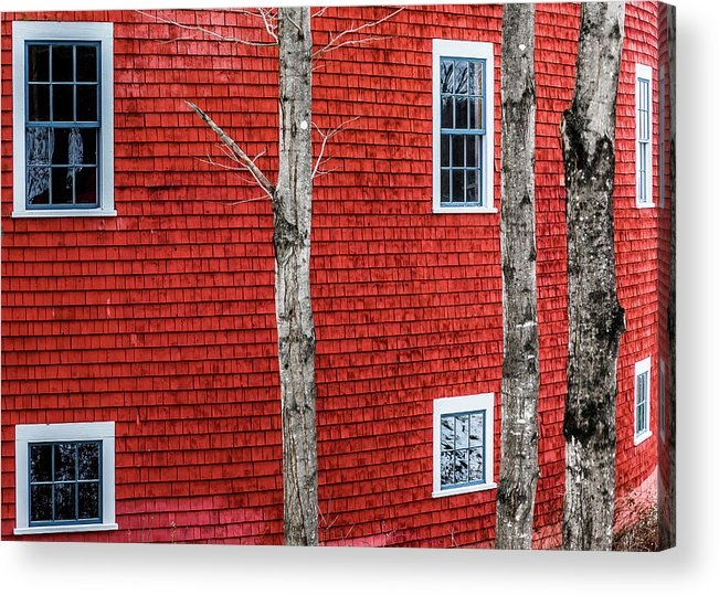 Barn Acrylic Print featuring the photograph Round Wall by Tim Kirchoff