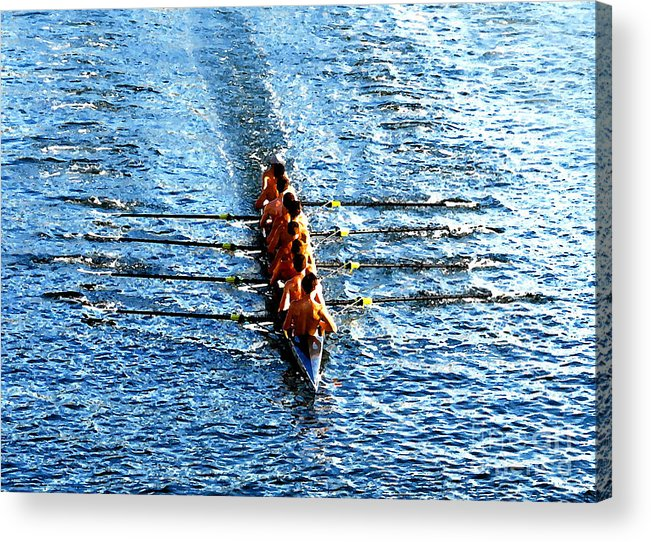Rowing Acrylic Print featuring the photograph Rowing In by David Lee Thompson