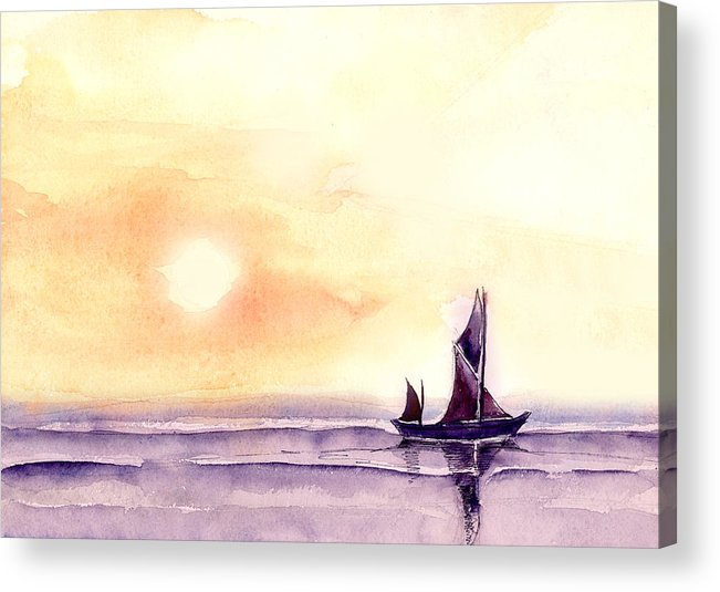 Nature Acrylic Print featuring the painting Sailing by Anil Nene