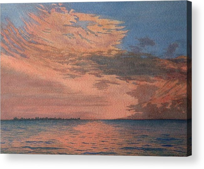 Landscape Acrylic Print featuring the painting Sailors Delight by Lynn ACourt
