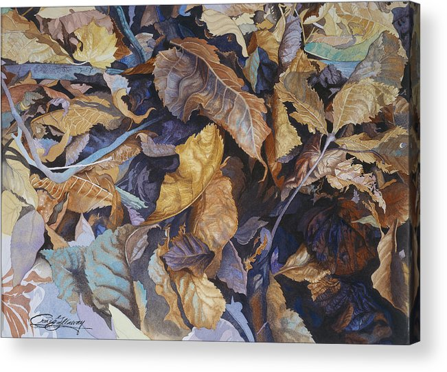 Autumn Acrylic Print featuring the painting Shadowland by Craig Gallaway