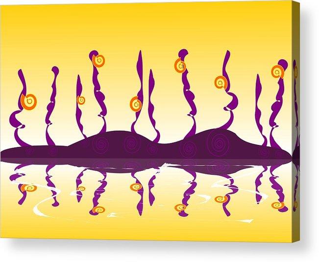 Shell Acrylic Print featuring the digital art Shell Life by Anastasiya Malakhova
