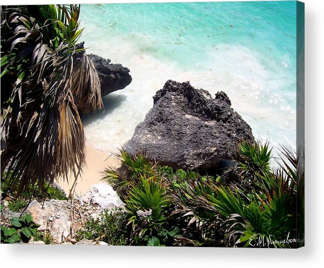 Landscape Acrylic Print featuring the photograph Shore Of Mexico by Elise Samuelson