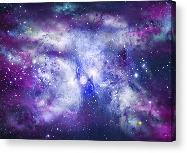 Abstract Acrylic Print featuring the digital art Space009 by Svetlana Sewell