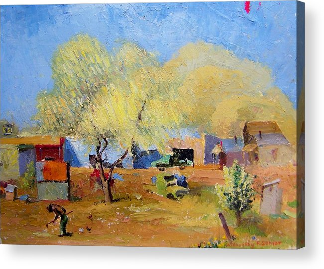 Spring Acrylic Print featuring the painting Spring Is For Everyone by Willoughby Senior