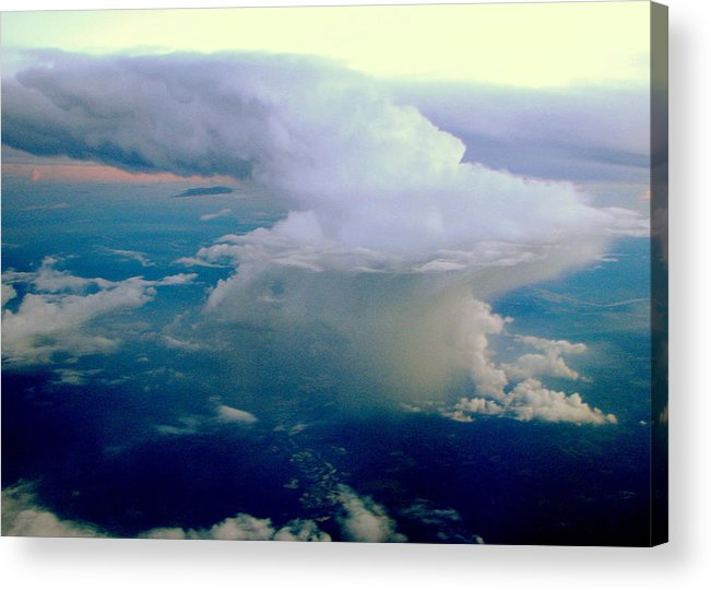 Thunderstorm.storm Acrylic Print featuring the photograph Summer Storm by T Guy Spencer