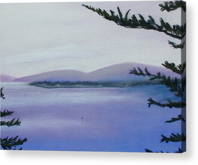 Landscape Acrylic Print featuring the painting Sunday Morning Bodega Bay California by Gary Jameson
