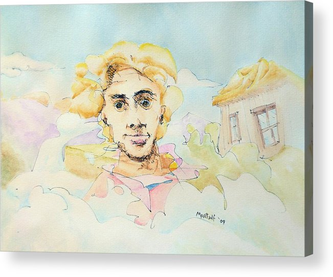 Air Acrylic Print featuring the painting The Good Man by Dave Martsolf