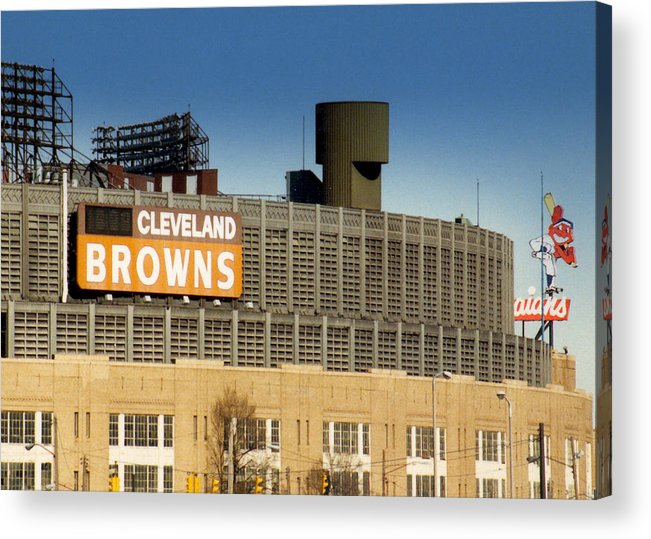 Cleveland Acrylic Print featuring the photograph The Hometeams In Color by Kenneth Krolikowski