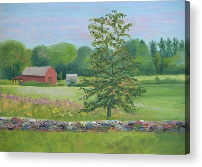 Landscape Acrylic Print featuring the painting The King's Grant by Paula Emery