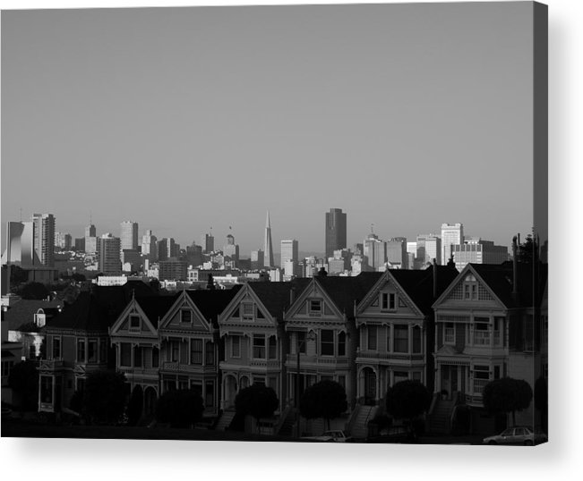 Architecture Acrylic Print featuring the photograph The Painted Ladies by Sonja Anderson