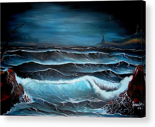 Landscape Acrylic Print featuring the painting The Rage by Glory Fraulein Wolfe
