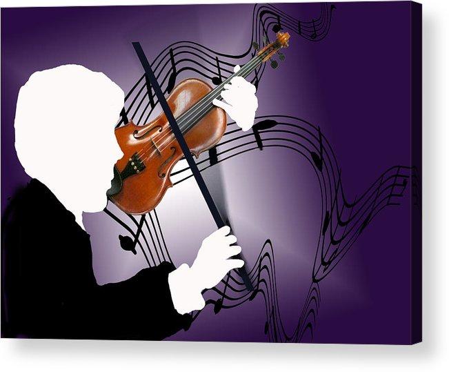Violin Acrylic Print featuring the digital art The Soloist by Steve Karol