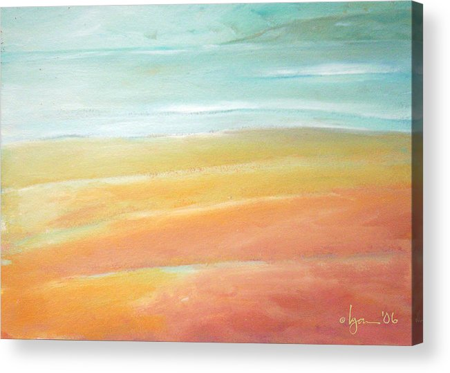 Oil Paintings Acrylic Print featuring the painting Tidal Ripples by Angela Treat Lyon