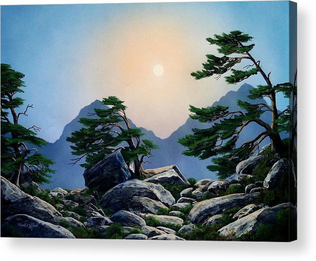 Timberline Guardians Acrylic Print featuring the painting Timberline Guardians by Frank Wilson