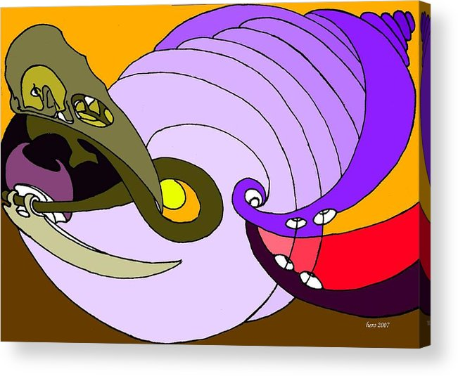Timespiral Acrylic Print featuring the mixed media Timespiral by Helmut Rottler